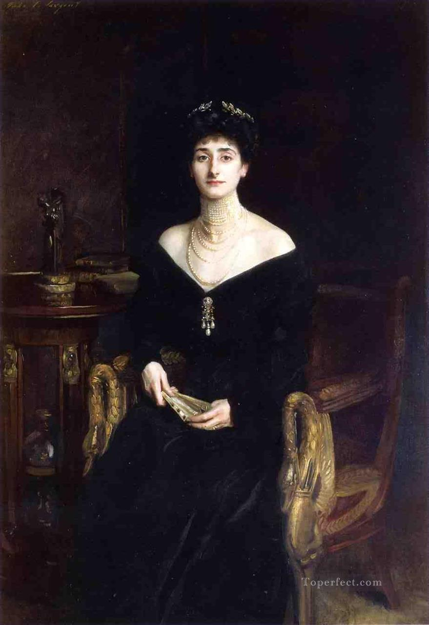 Portrait of Mrs Ernest G Raphael nee Florence Cecilia Sassoon John Singer Sargent Oil Paintings
